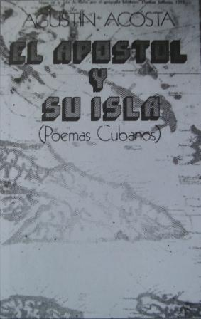 Cubierta de El Apóstol y su Isla, poemario publicado en Estados Unidos en 1975