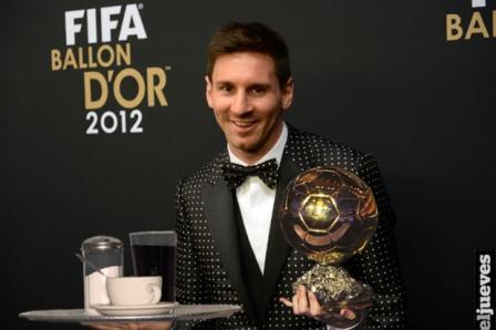 Lionel Messi se alzó, por cuarta vez consecutiva, con el Balón de Oro.