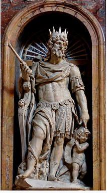 Escultura del rey David en la Basílica de Santa María la Mayor.