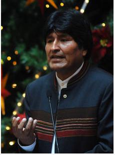 Evo Morales, representante de la izquierda extremista en este continente.