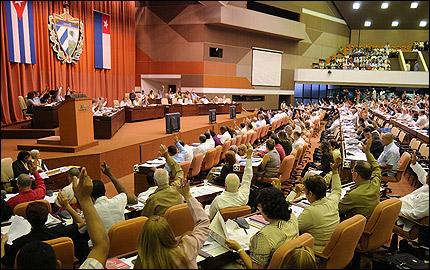 La Asamblea Nacional del Poder Popular también cae en este juego.