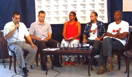 Panelistas invitados a un programa de la televisión in dependiente, donde se abordó sobre la Demanda Ciudadana Por Otra Cuba.