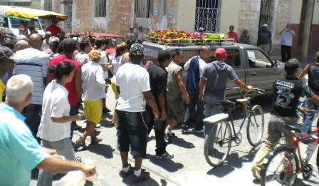 Momento de los funerales de Juan Wilfredo Soto García.