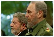 La idea de esta agrupación vino de una reunión sostenida entre Lula da Silva (izquierda) y Fidel Castro.