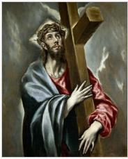 Jesucristo  según una pintura del Greco.