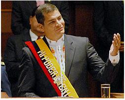 La plataforma política y económica de Rafael Correa se sustenta en el ideario de la revolución cubana, el cual se encuentra en franco deterioro.