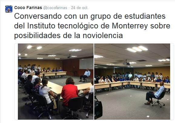 Fariñas conversa con estudiantes en México